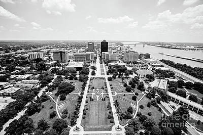 Baton Rouge From The State Capitol Poster by Scott Pellegrin