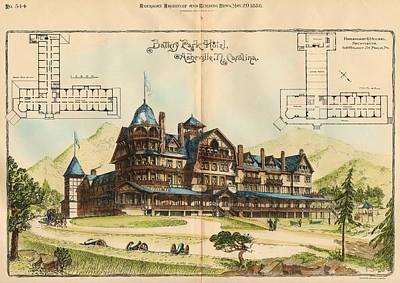 Battery Park Hotel. Asheville Nc. 1886 Poster by Hazlehurst and Huckel