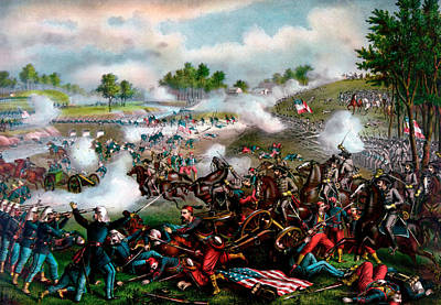 Battle Of First Manassas Poster by Niday Picture Library