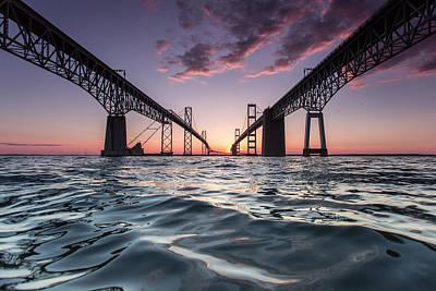 Bay Bridge Twilight Poster by Jennifer Casey