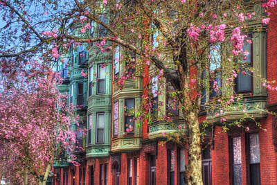 Bay Village Row Houses - Boston Poster by Joann Vitali