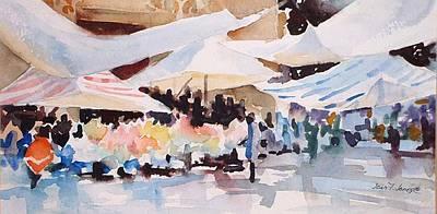 Bazaar Sabado Poster by Joan  Jones