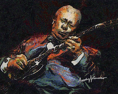 Bb King Poster by Anthony Caruso