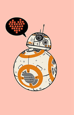 Bb8 Love Pink Poster by Nicole Wilson