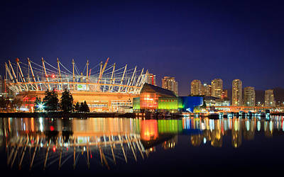 Bc Place Stadium Poster by Bea Carlson