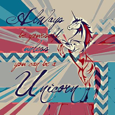 Be A Unicorn 1 Poster by Brandi Fitzgerald