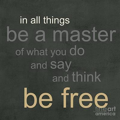 Be Free Poster by Linda Woods