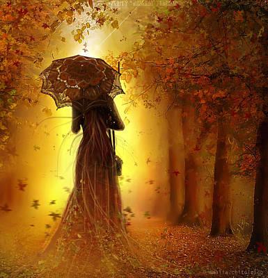 Be My Autumn Poster by Amalia Iuliana Chitulescu