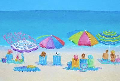Beach Art - A Golden Day Poster by Jan Matson
