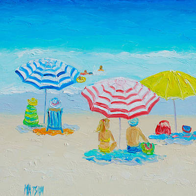 Beach Art - Balmy Summers Day Poster by Jan Matson