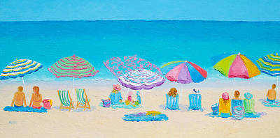 Beach Art - Live By The Sun Poster by Jan Matson