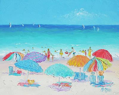 Beach Art - Summer Poster by Jan Matson