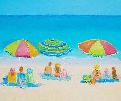Beach Art - Summer Paradise Poster by Jan Matson
