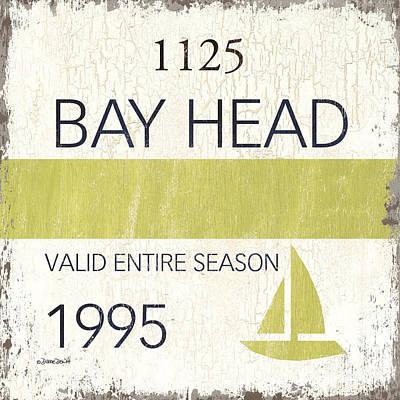 Beach Badge Bay Head Poster by Debbie DeWitt