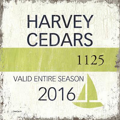Beach Badge Harvey Cedars Poster by Debbie DeWitt