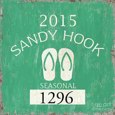 Beach Badge Sandy Hook Poster by Debbie DeWitt