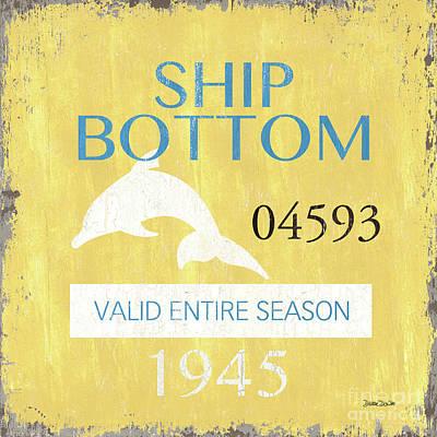 Beach Badge Ship Bottom Poster by Debbie DeWitt