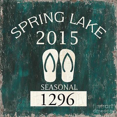 Beach Badge Spring Lake Poster by Debbie DeWitt
