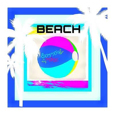 Beach Ball Poster by Shanhan Truitt-Roos