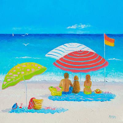 Beach Painting - Endless Summer Days Poster by Jan Matson