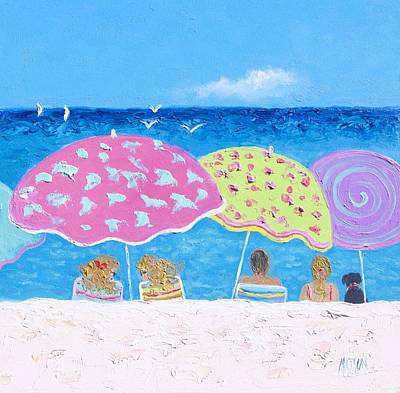 Beach Painting - Lazy Summer Days Poster by Jan Matson
