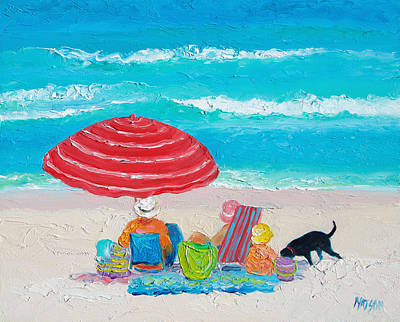 Beach Painting - One Summer Poster by Jan Matson