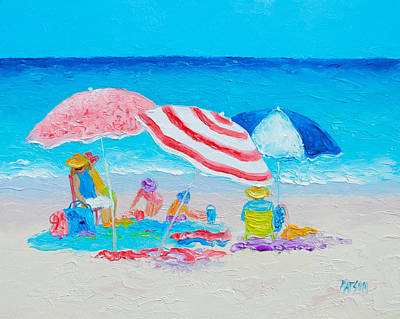 Beach Painting - Summer Beach Vacation Poster by Jan Matson