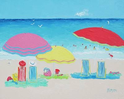 Beach Painting Summer Days Poster by Jan Matson