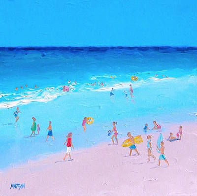 Beach Painting - Summer Holiday Poster by Jan Matson
