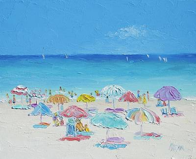 Beach Painting - Summer Paradise Poster by Jan Matson