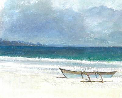 Beach Thalassa Poster by Lincoln Seligman