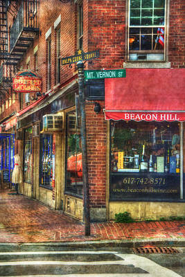 Beacon Hill - Boston Poster by Joann Vitali