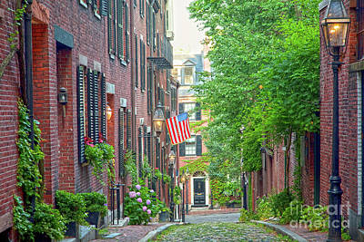 Beacon Hill Poster by Susan Cole Kelly