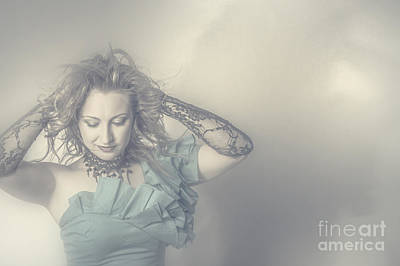 Beautiful Blond Woman With Messy Hairstyle Poster by Jorgo Photography - Wall Art Gallery