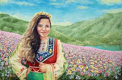 Beautiful Bulgaria - Land Of Flowers. Tanya Poster by Veniamin Vasilev