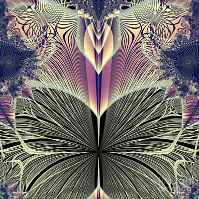 Beautiful Butterfly Ballet Fractal Poster by Rose Santuci-Sofranko