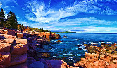 Beautiful Day At Acadia Poster by Bill Caldwell -        ABeautifulSky Photography
