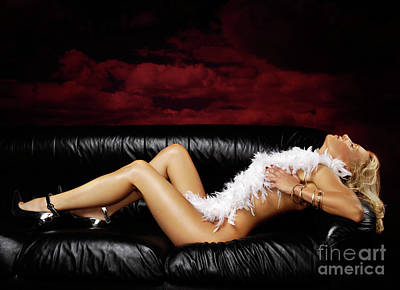 Beautiful Naked Woman On A Couch Poster by Oleksiy Maksymenko