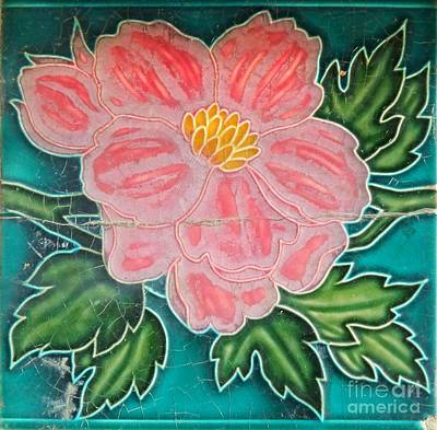 Beautiful Old Ceramic Tile Poster by Yali Shi