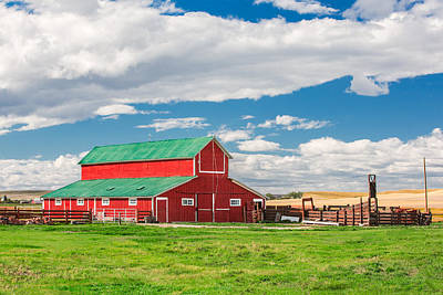 Beautiful Red Barn Poster by Todd Klassy