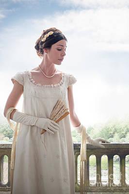 Beautiful Regency Woman In The Garden Poster by Lee Avison