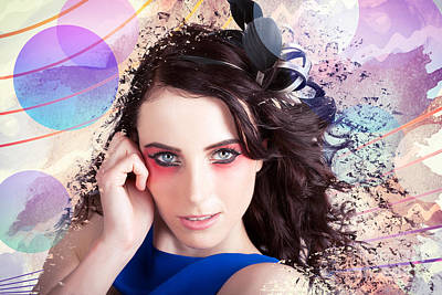 Beauty In The Abstract Colors Of Make-up Poster by Jorgo Photography - Wall Art Gallery
