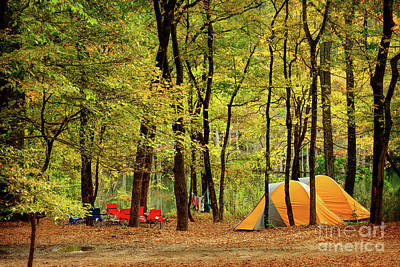 Beaver's Bend Camping Poster by Tamyra Ayles