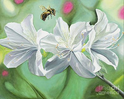Bee Happy Poster by Denise Wood