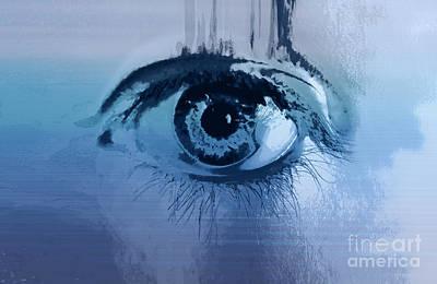 Behind Blue Eyes Poster by Steffi Louis