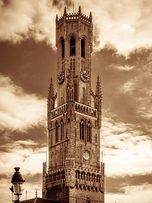 Belfry Tower Of Bruges Poster by Wim Lanclus