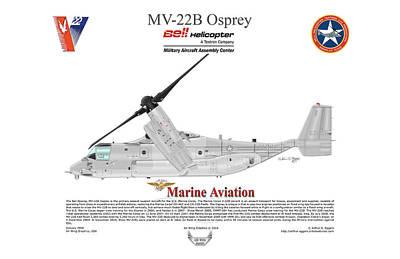 Bell Boeing Mv-22b Osprey 166720 Poster by Arthur Eggers