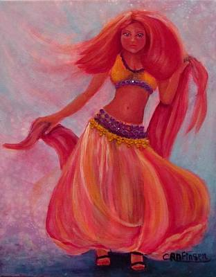 Belly Dancer Poster by Carol Allen Anfinsen