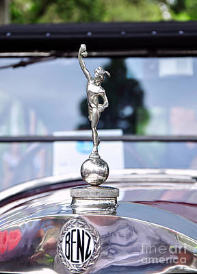 Benz 1916 Ds2 - Hood Ornament And Badge Poster by Kaye Menner