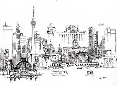 Berlin Medley Monochrome Poster by Callan Percy